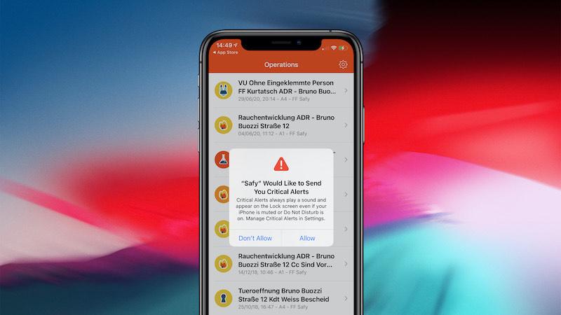Criticals alerts in Safy